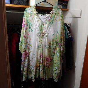 Floral, free flowing dress